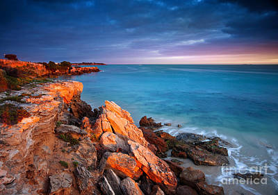 Art Print featuring the photograph Sun Lights And The Rocks by Boon Mee