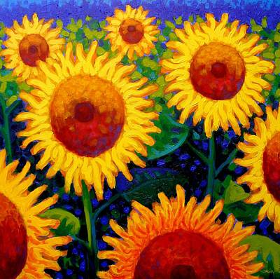 Sun Lovers II Art Print by John  Nolan