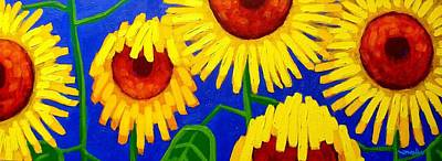 Sunflower Painting - Sun Lovers by John  Nolan