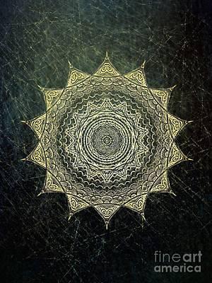 Sun Mandala - Background Variation Art Print by Klara Acel