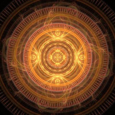 Digital Art - Sun Mandala by Martin Capek