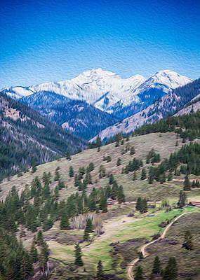 Photograph - Sun Mountain View Of Mt Gardner In Springtime by Omaste Witkowski