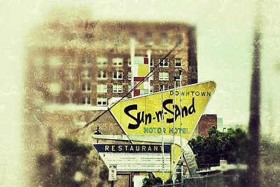 Photograph - Sun-n-sand Sign by Jim Albritton