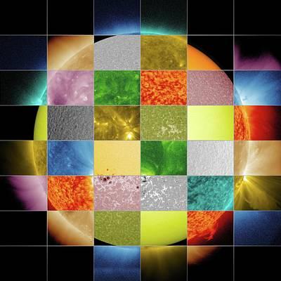 Solar Corona Photograph - Sun Observed At Different Wavelengths by Nasa/sdo/goddard Space Flight Center