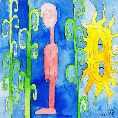 Cornstalks Painting - Sun Of Man by Genevieve Esson