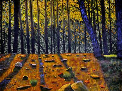 Painting - Sun On Rocks by Stan Hamilton