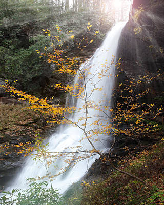Photograph - Sun Over Dry Falls Nc by Coby Cooper