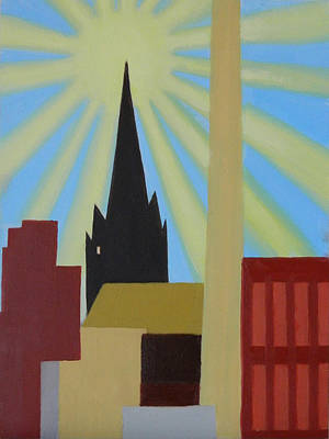 Painting - Sun Over Greenpoint by Ron Erickson