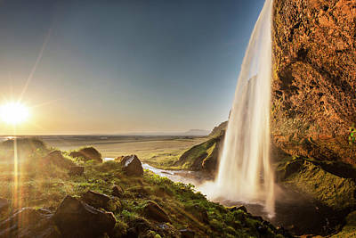 Photograph - Sun Over Seljalandsfoss Waterfall by Xavierarnau