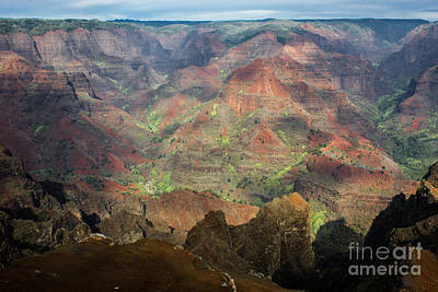 Photograph - Sun Peeking Out At Waimea Canyon by Suzanne Luft