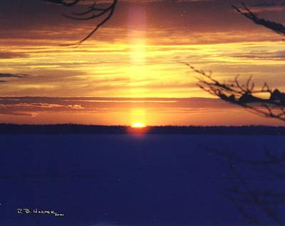 Photograph - Sun Pillar by R B Harper