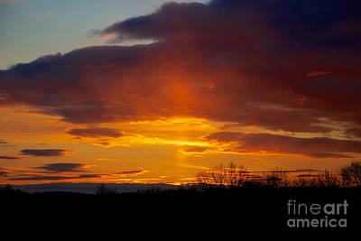 Photograph - Sun Pillar by Mark Dodd