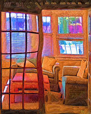 Fauvist Style Painting - Sun Porch by Kirt Tisdale