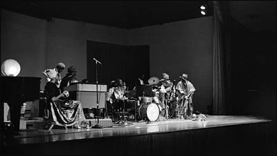 Uc Davis Photograph - Sun Ra Arkestra At U C Davis by Lee  Santa