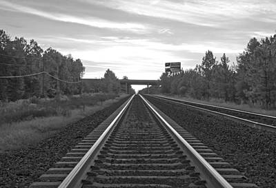 Photograph - Sun-rail Black And White by John Black