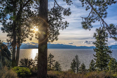 Photograph - Sun Rays At Lake Tahoe by Maria Coulson