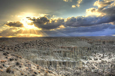 Photograph - Sun Rays At Red Rock Canyon State Park by Eddie Yerkish