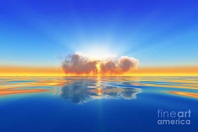Sun Rays Digital Art - Sun Rays In Cloud by Aleksey Tugolukov