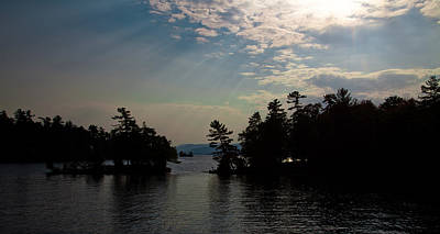 Photograph - Sun Rays On Lake George by David Patterson