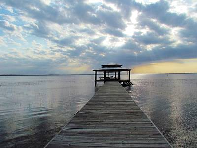 Lake Waccamaw Photograph - Sun Rays On The Lake by Cynthia Guinn
