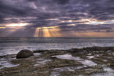 Digital Art - Sun Rays On The Ocean by Eddie Yerkish