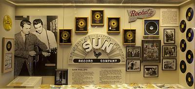 Of Artist Photograph - Sun Record Display by Mountain Dreams