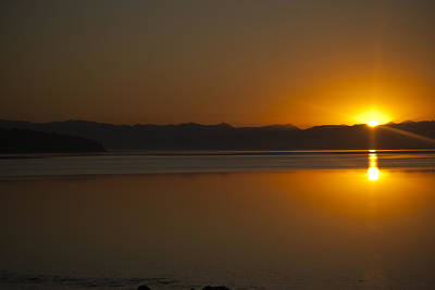 Sun Rise At Penn Cove Art Print