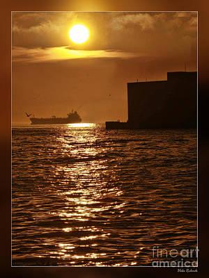 Photograph - Sun Rise Dock And Ship by Blake Richards