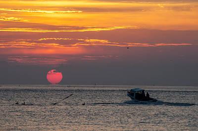 Photograph - Sun Rise On Charleston Bay by Allen Carroll