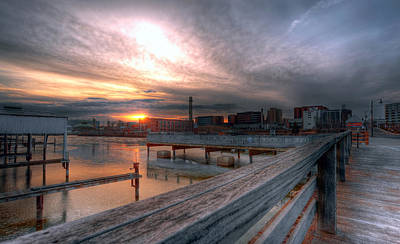 Sun Rise Over Erie Pa Art Print by Brian Fisher