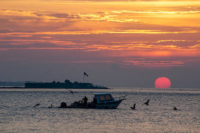 Sun Rise Over Fort Sumter Art Print