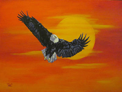 Art Print featuring the painting Sun Riser by Wendy Shoults