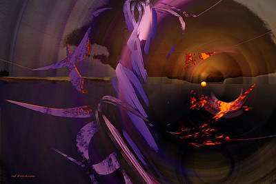 Abstract Other Worlds Digital Art - Sun Rising Otherwhere by rd Erickson