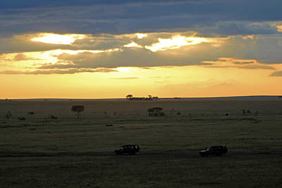 Photograph - Sun Rising Over Serengeti by Tony Murtagh