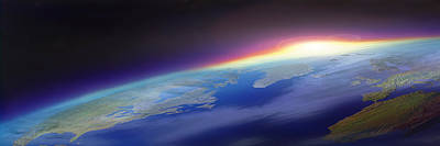 Communication Photograph - Sun Rising Over The Earth by Panoramic Images