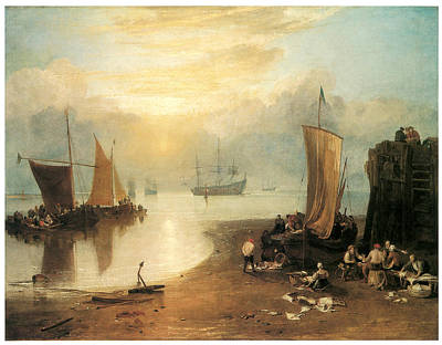 J Boat Painting - Sun Rising Through Vapour by J M W Turner