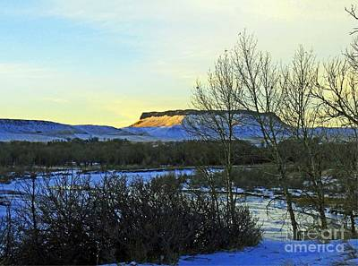 Photograph - Sun River Square Butte by Desiree Paquette