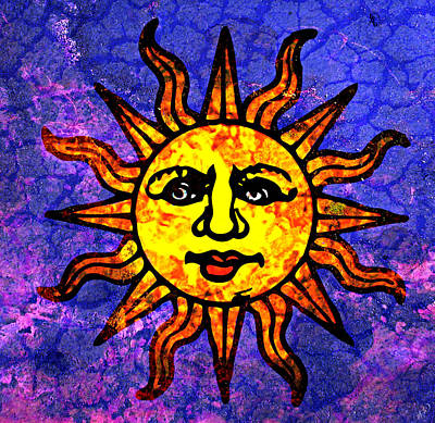 Sun Salutations Painting - Sun Salutation by Ally  White