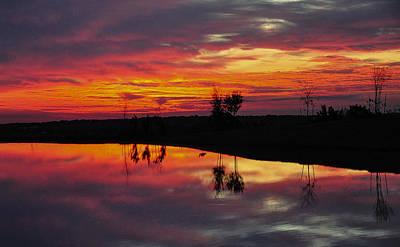 Sun Set At Cowen Creek Art Print
