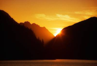 Photograph - Sun Set Over The Lake by Thomas Born
