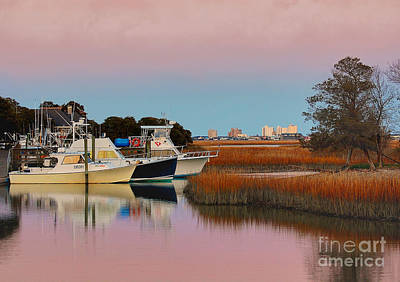 Sun Setting At Murrells Inlet Art Print