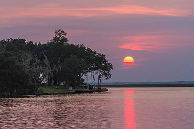 Sun Setting In The Bayou Art Print
