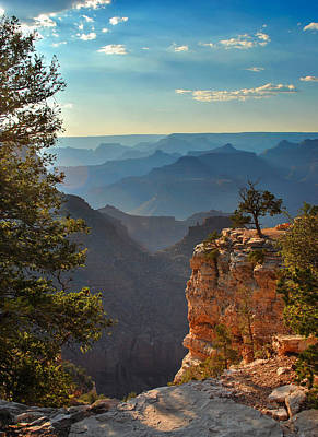 Photograph - Sun Setting On Grand Canyon  by Gregory Ballos