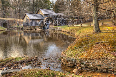 Old Mill Scenes Photograph - Sun Setting On Mabry Mill by Gregory Ballos