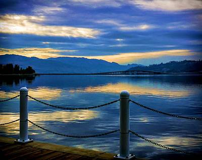 Photograph - Sun Setting On Okanagan Lake by Jordan Blackstone