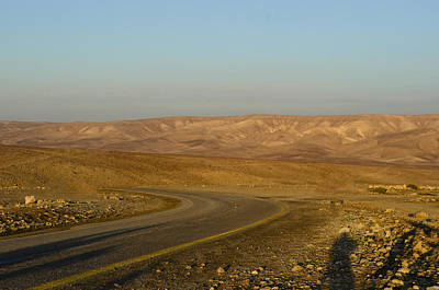 Photograph - Sun Setting On The Negev by Alan Marlowe