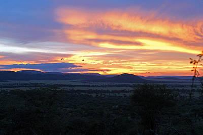 Photograph - Sun Setting Over Serengeti by Tony Murtagh