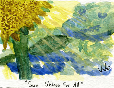 Painting - Sun Shines For All II by Victor Vosen