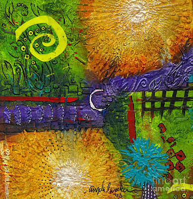 Mixed Media - Sun Shines In Your Yard And Mine by Angela L Walker