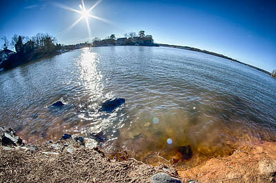 Lake Wylie Photograph - Sun Shining Over Lake Wylie In North Carolina by Alex Grichenko